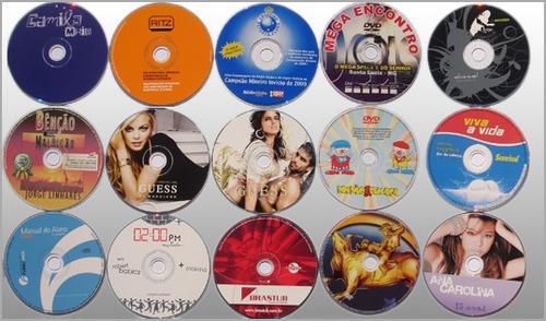 kit 10 cds ou dvds print + gravação