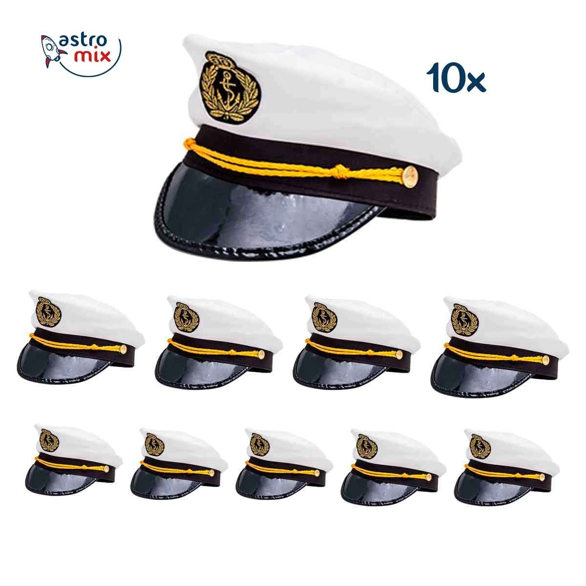 56e805bd83c64 Kit 10 Chapéu Marinheiro Quepe Boina Capitão Fantasia Festa - R  139 ...