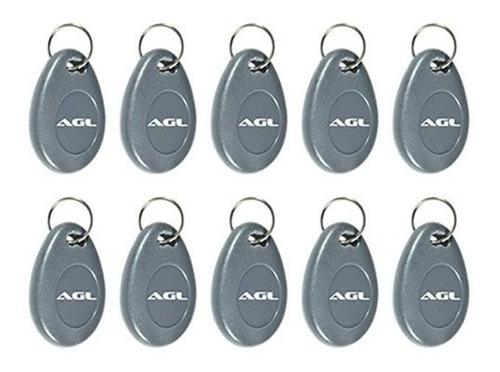 kit 10 chaveiro digital tag agl para controle de acesso