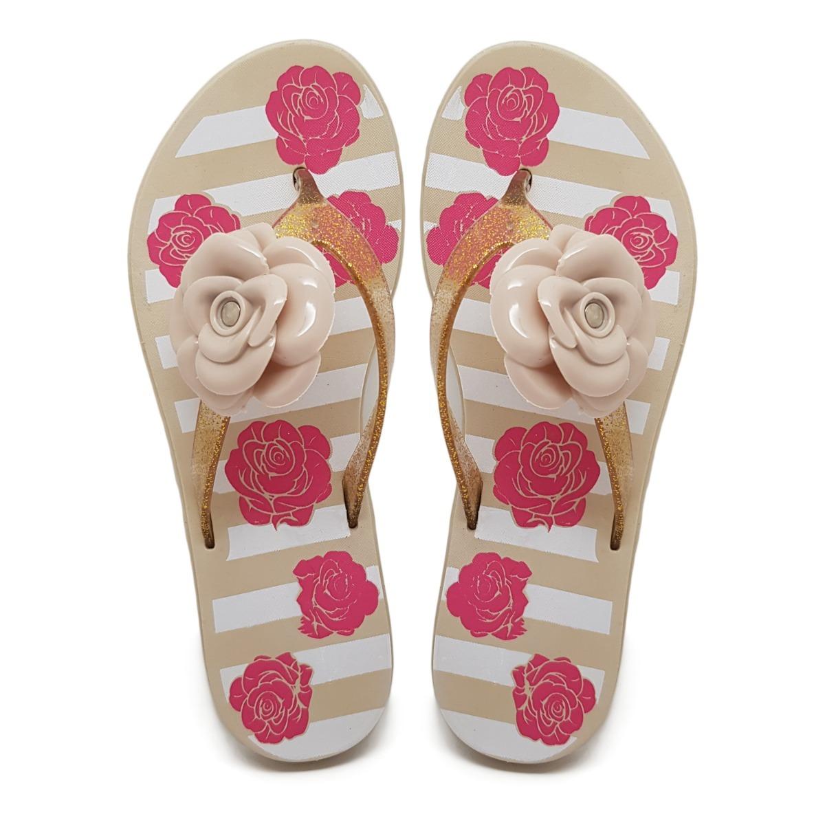 ad234286ca kit 10 chinelo sandália estampado laço flor rosa atacado k79. Carregando  zoom.