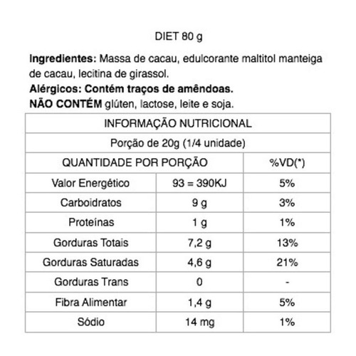 kit 10 chocolate 54% cacau diet vegano 25g java