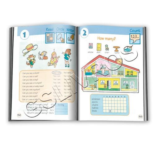 kit 10 col inglês para crianças 1 livro + dic + 4 cds atual