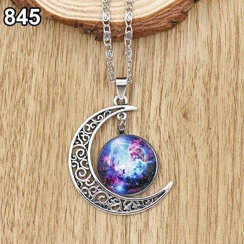 kit 10 colares lua universo nebulosa estrelas frete grátis