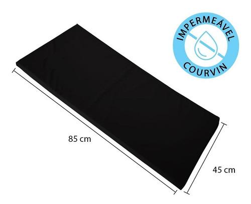 kit 10 colchonetes 85x45x3cm espuma academia corvin preto