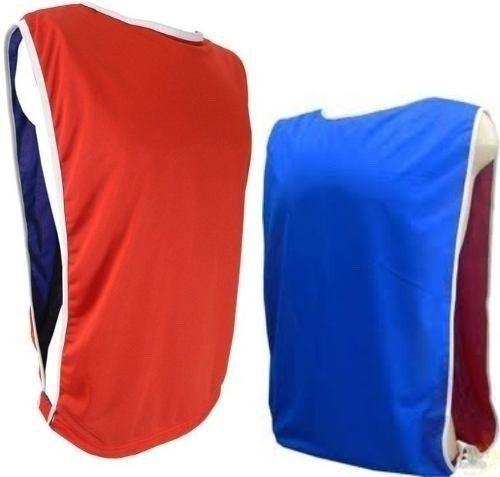 kit 10 coletes de futebol dupla face treino escolha as cores