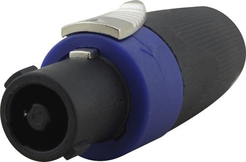 kit 10 conector plug speakon tipo neutrik 4 polos macho