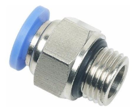 kit 10 conexões pneumáticas instantâneas rosca 1/4 bsp x 8mm