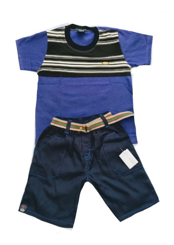 kit 10 conjunto infantil menino short e camiseta personagens