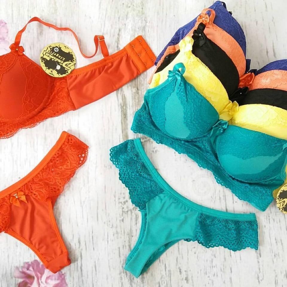 kit 10 conjuntos de lingerie atacado calcinha sutiã langerie. Carregando  zoom. d0c6d3cac65