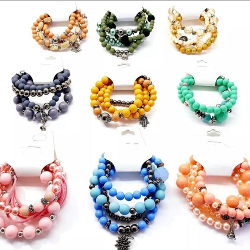 kit 10 conjuntos pulseiras femininas atacado revenda