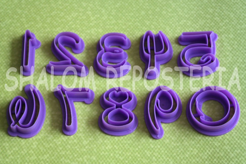 *kit 10 cortadores numeros disney fondant galletas royal