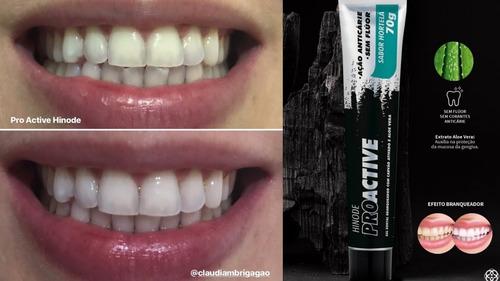 kit 10 creme dental gel carvão ativado hinode s/ fluor  hor
