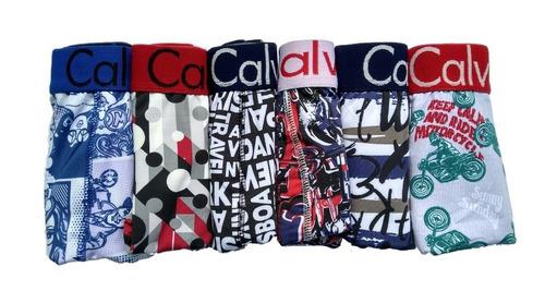 kit 10 cueca box calvin + 12 pares de meia
