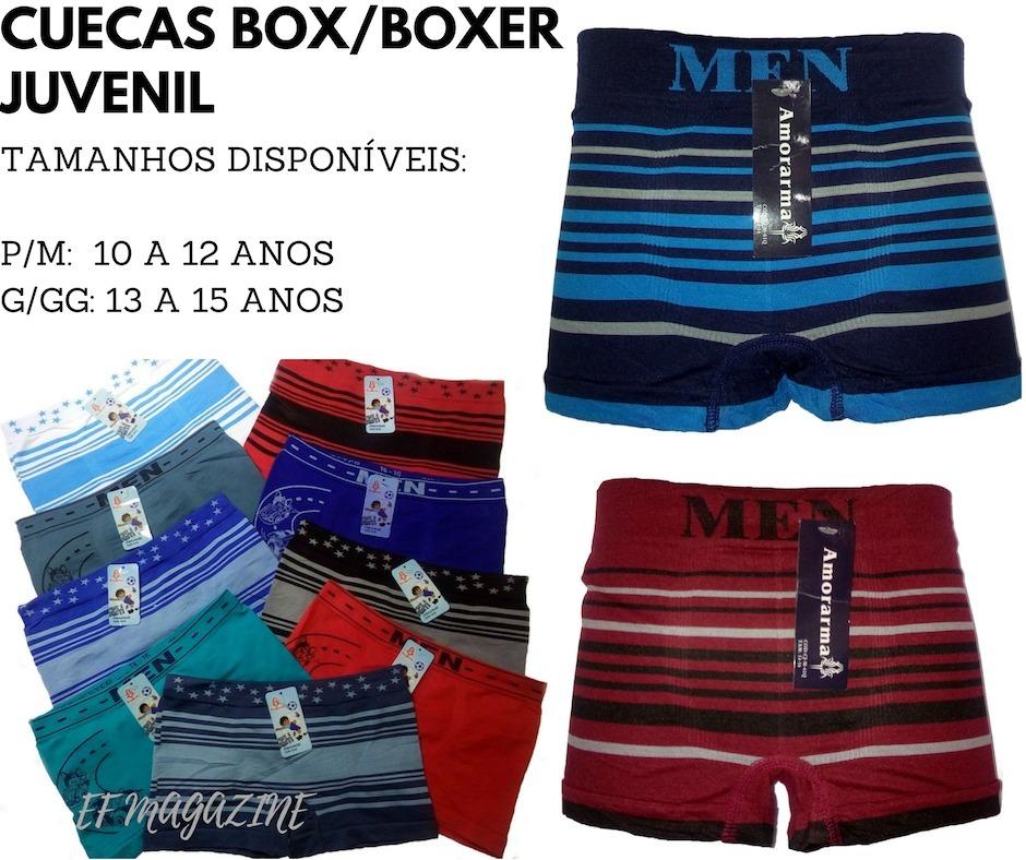 4c72a785e kit 10 cueca juvenil box boxer atacado revenda  . Carregando zoom.