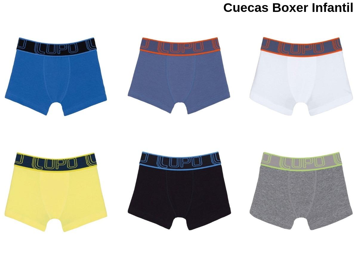 91d1e021d kit 10 cuecas boxer infantil lupo algodão original promoção. Carregando  zoom.