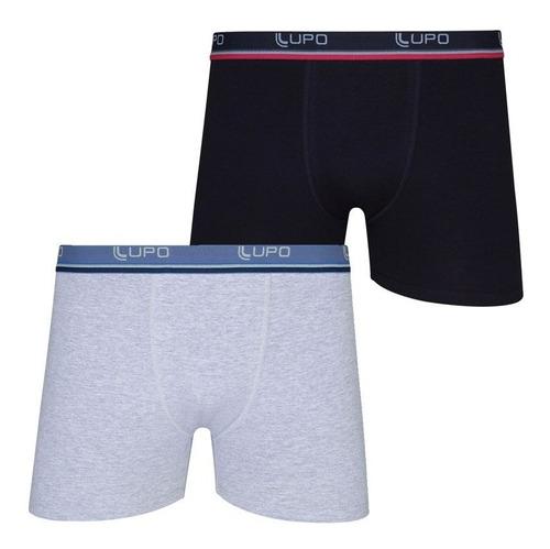 kit 10 cuecas boxer lupo 523-088 promoção algodão original