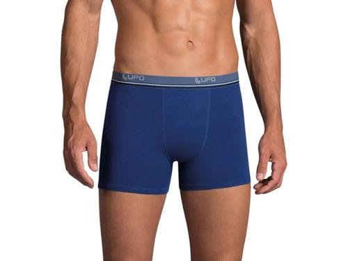 kit 10 cuecas boxer lupo algodão masculina ref 523 full