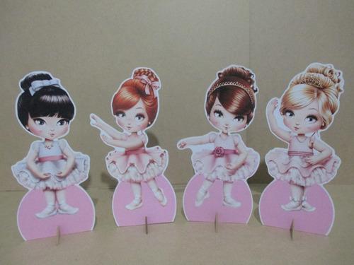 kit 10 display bailarina jolie decoração de mesa festas
