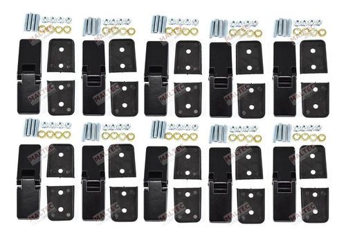 kit 10 dobradiças externas tampa capô motor puma buggy preta