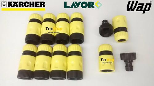 kit 10 engate rápido para lava jato wap-karcher-lavor