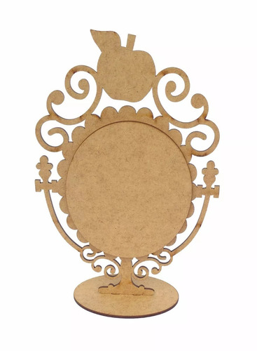 kit 10 espelhos centro mesa branca neve maça foto festa