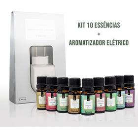 Kit 10 Essencias 10ml + Aromatizador Elétrico Via Aroma