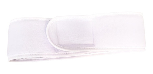 kit 10 faixa de cabelo branca lisa
