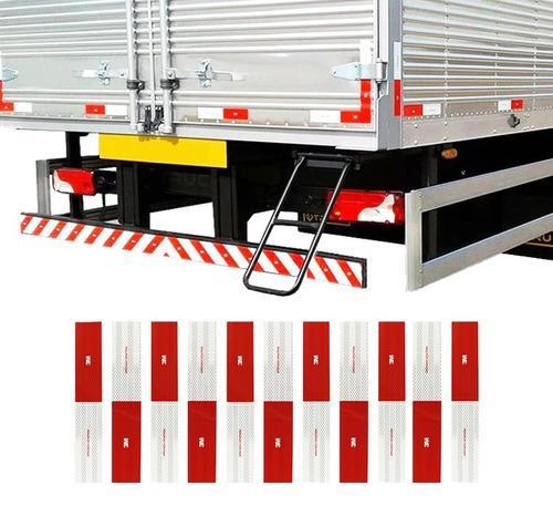 kit 10 faixa refletiva lateral 3m caminhão