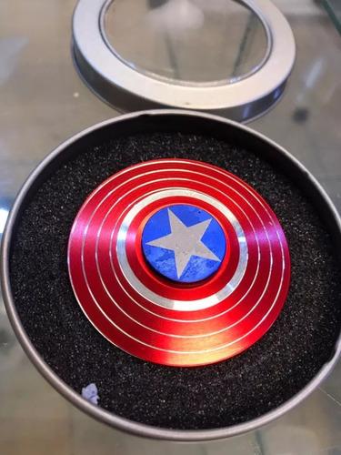 kit 10 fidget hand spinner escudo capital america original