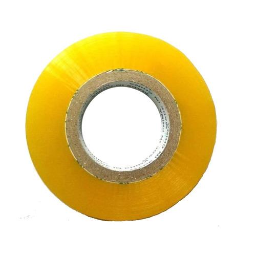 kit 10 fita larga transparente amarelo 500m adesivas embalar