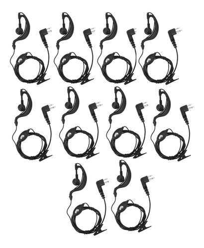 kit 10 fone ouvido de radio comunicador baofeng 777 5r 6r 82