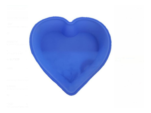 kit 10 formas de bolo silicone coração 300º assadeira torta
