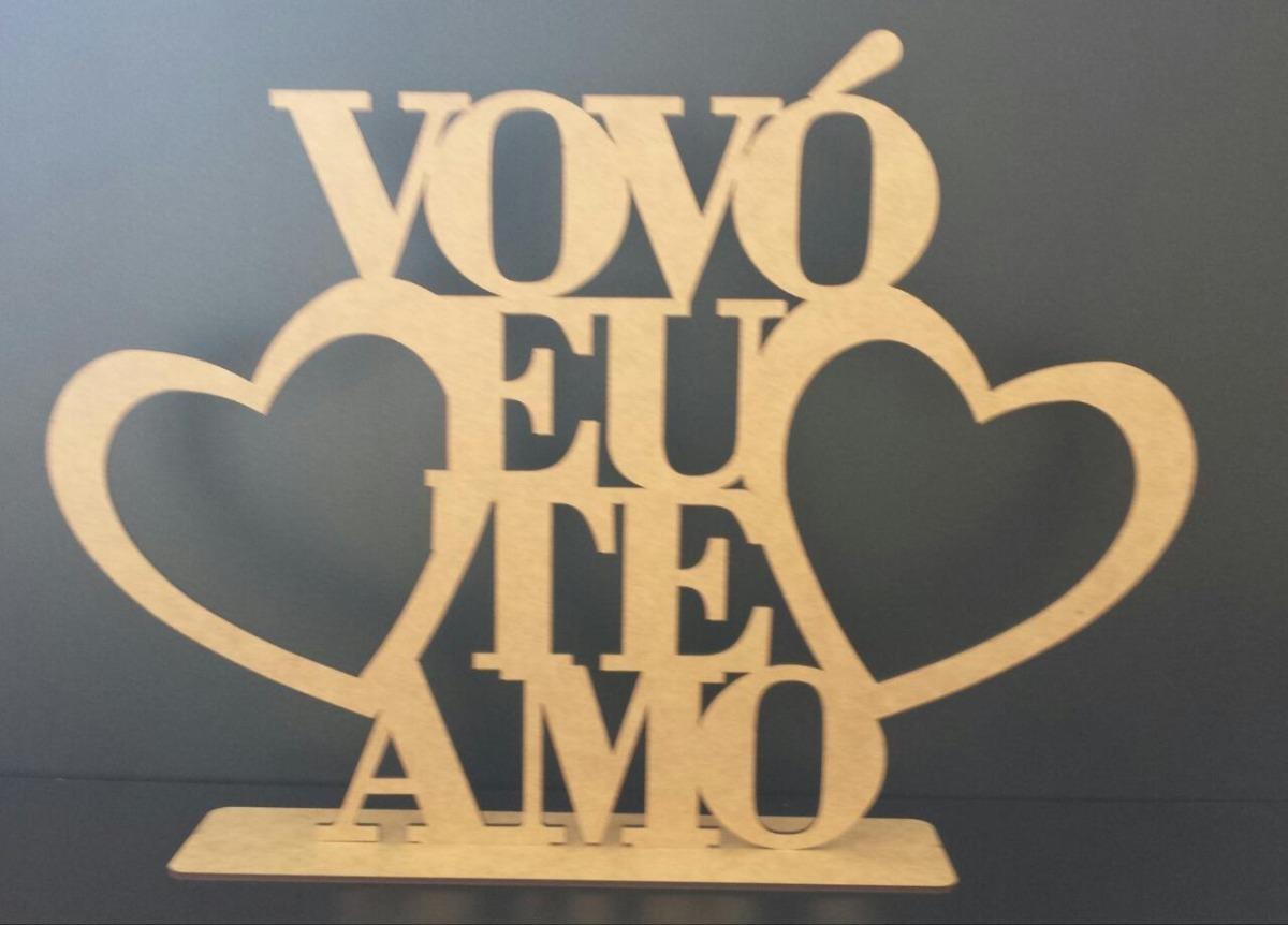 Kit 10 Frases Mamãe E Vovó Eu Te Amo C Base Mdf Cru 20cm R 9100