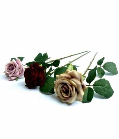 kit 10 galhos de rosas 57cm flores artificiais