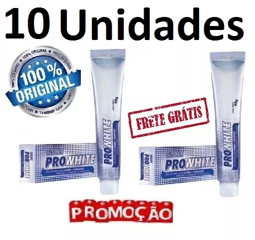 Kit 10 Gel Dental Clareador Hinode Pro White Dentes Bran R 120