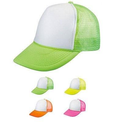 kit 10 gorras trucker malla neón ideal para sublimar