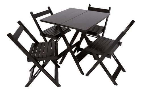 kit 10 jogos de mesas de bar 70x70 com 4 cadeiras dobráveis