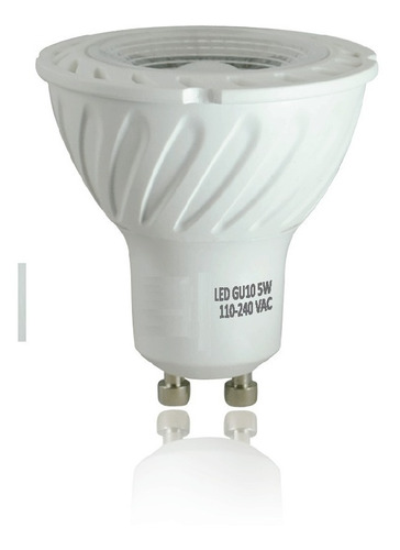 kit 10 lampada dicroica led 5w gu10 p/ spot sanca