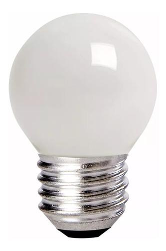 kit 10 lampada incandescente bolinha sílica 40w 110v camarim