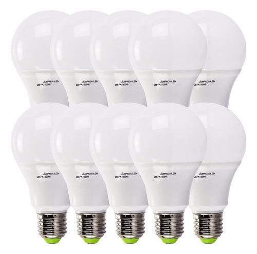 kit 10 lampada led 16w bulbo soquete e27 bivolt casa comerci