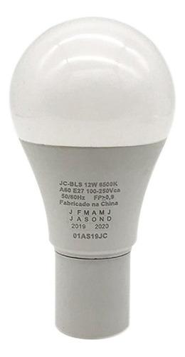 kit 10 lampada led bulbo e27 12w branca fria casa e comercio