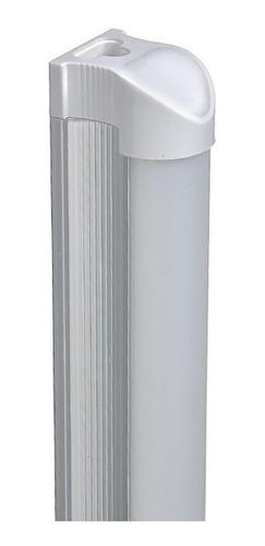 kit 10 lampada led tubular 120cm branco frio com calha  20w