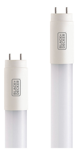kit 10 lampada led tubular t8 10w 6500k 60cm- black + decker