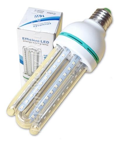 kit 10 lamparas tubos efficient led 16w bajo consumo led kit