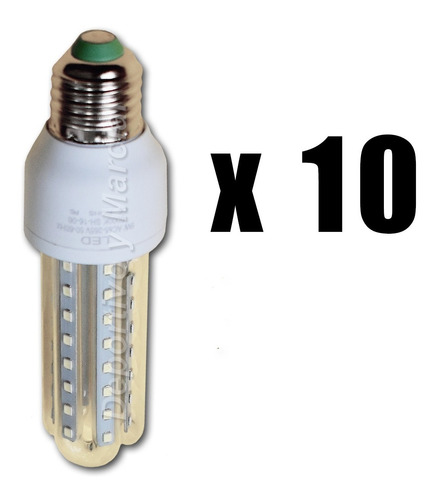 kit 10 lamparas tubos efficient led 9w = 70 watts cuotas