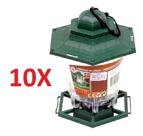 kit 10 lanterna lampião silencioso repelente contra insetos