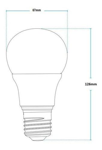 kit 10 lâmpada bulbo 15w branco frio e27 bivolt avant