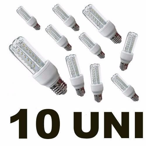 kit 10 lâmpada led 5w 3u luz bq ou bf e27 biv frete grátis
