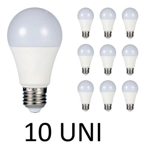 kit 10 lâmpada led 7w bulbo bivolt e27 90% mais econômico!