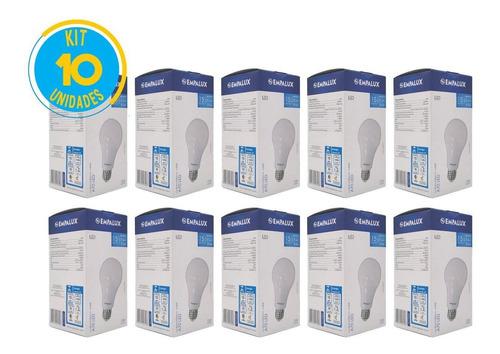 kit 10 lâmpada led e27 15w residencial casa e comercio